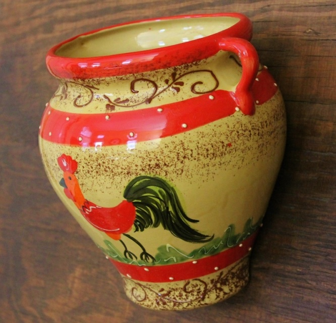 Cassis Rooster Wall Vase Wall Planter