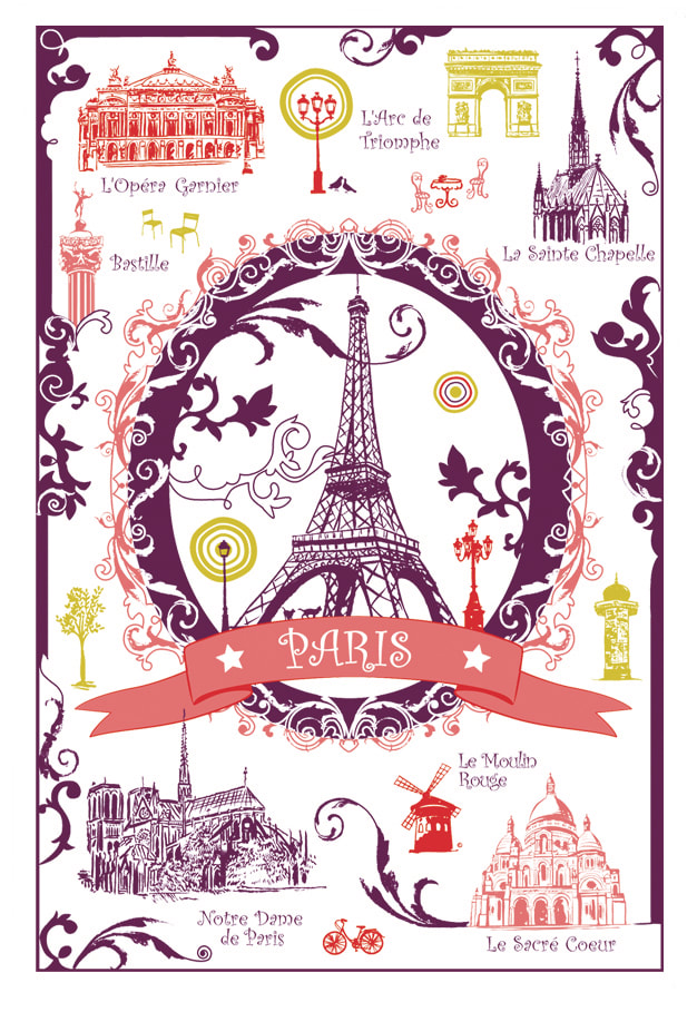 The Best Of Paris Exclusive Design Torchons Et Bouchons French Dishtowels Elegant 100 Cotton Kitchen Towels Paris Eiffel Tower Lovers Dishcloths Fun Paris Artwork Decorative Kitchen Tea Towels Home Decor Accessories Gifts