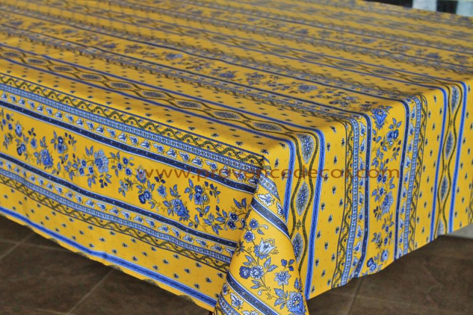 Avignon Yellow Printed Cotton French Provence Marat