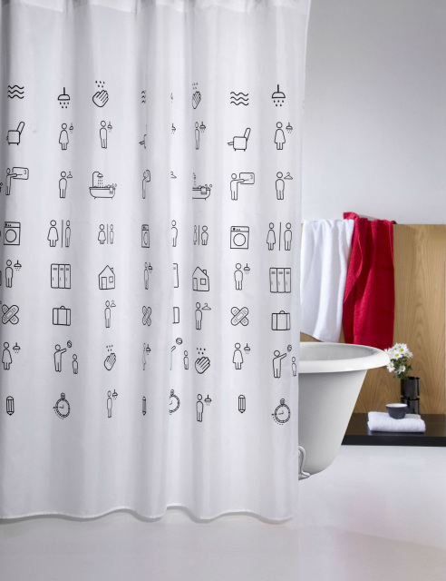 FUN ICONS SHOWER CURTAIN