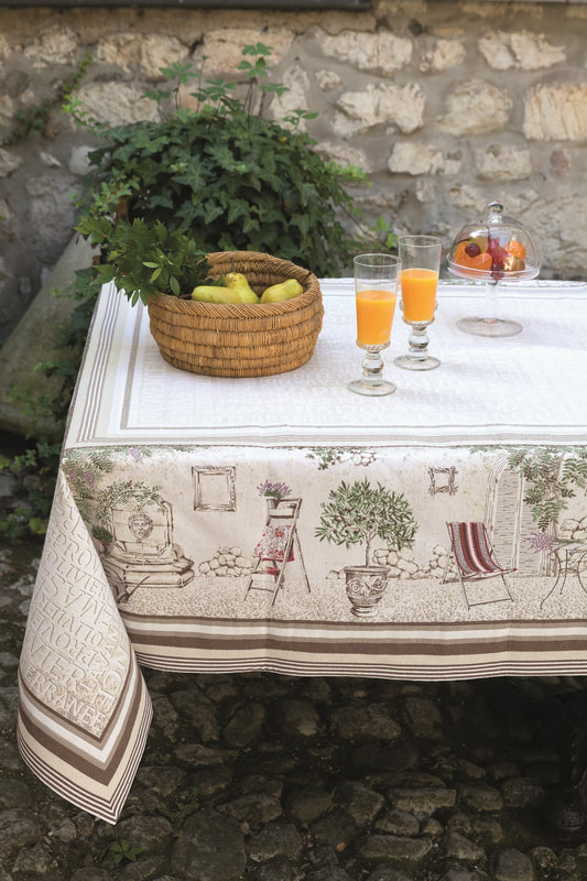 PROVENCE French Provence Jacquard Woven Tapestry Tablecloths - Elegant Rectangle Tablecloth - Square Table Topper Couch Throw - French Home Decor
