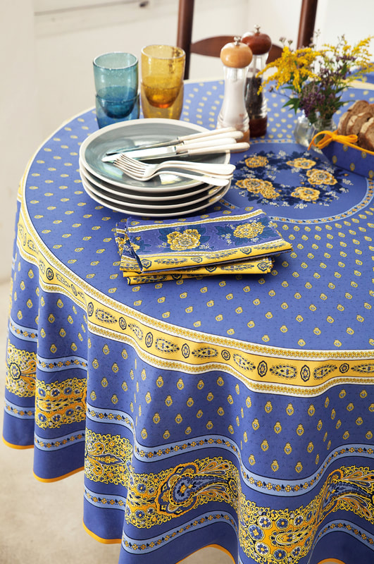 French high quality 100% cotton tablecloths
