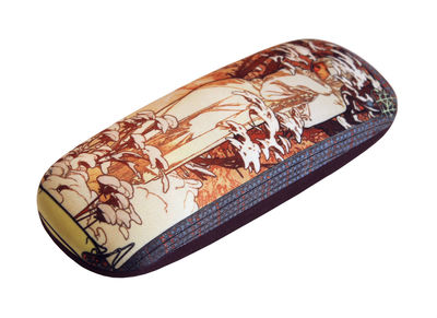 THE WINTER by Alphonse Mucha Art Designs hard shell Eyeglass Cases