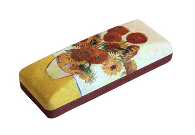 SUNFLOWERS by Vincent Van Gogh Art Designs hard shell Eyeglass Cases