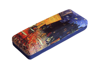 CAFE TERRACE by Vincent Van Gogh Art Designs hard shell Eyeglass Cases