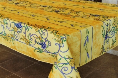 Provence Décor offers the highest quality polyester tablecloth collection. They are finer and softer than regular polyester fabrics offering a more delicate and elegant way of dressing and protecting your table. They are stain and wrinkle resistant.