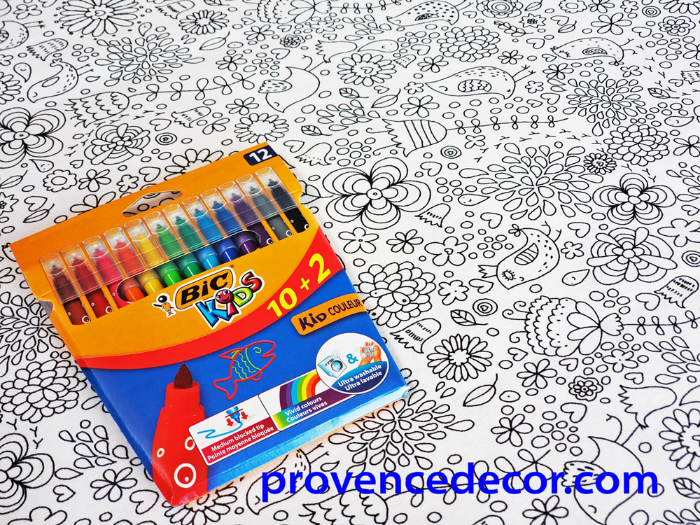COOL NATURE COLOR AND WASH TABLE CLOTH - Washable Coloring Kids Party Tablecloths - Fun Nature Art Table Cover - Children, Girls and Boys Entertaining Decorative Party Table Decor Gifts