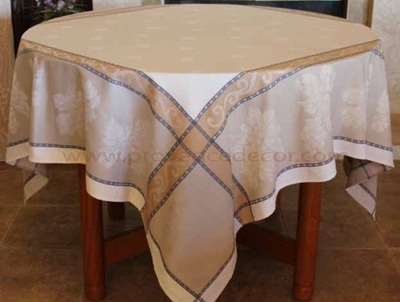 GRAPE LINEN Jacquard Woven Cotton French Square Table Throw - Wine Country Party Table Decor - Elegant Wine Lovers Grapes Decorative Tablecloths - French Country Home Decor Gifts