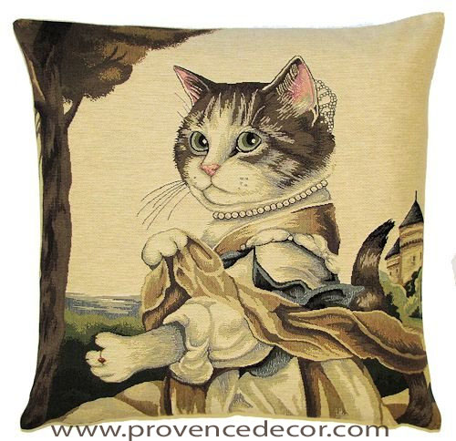 Authentic European Jacquard Woven Gobelin Tapestry Cats Susan ...