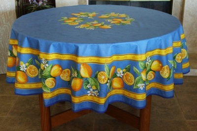 Provence Décor offers the highest quality Acrylic Coated tablecloths that are made of 100% cotton with a soft wipe clean acrylic finish. They are finer and softer than standard oilcloths offering a more delicate and elegant way of dressing and protecting your table.