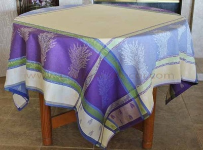LAVANDINE Jacquard Woven Teflon Cotton Coated French Tablecloths - Easy Clean Elegant Party Table Decor - French Country Home Decor Gifts