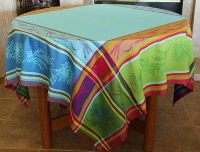 Provence Decor - Jacquard Woven Teflon Cotton Coated French Provence Tablecloth