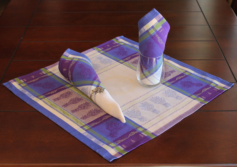 Provence Decor - French Provence Jacquard Woven Cotton Napkins Set