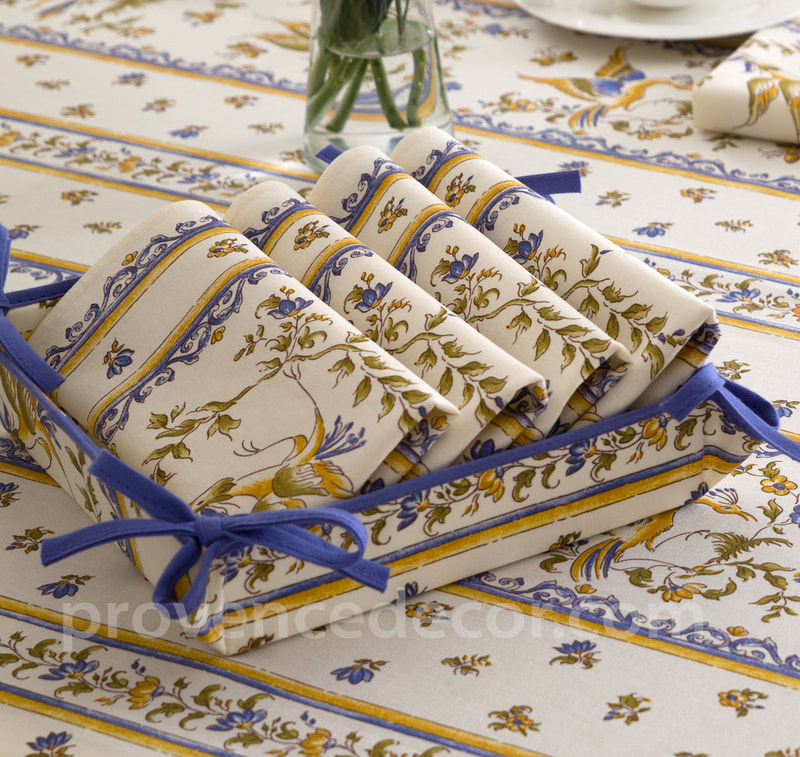 Provence Decor - French Provence Printed Cotton Napkins