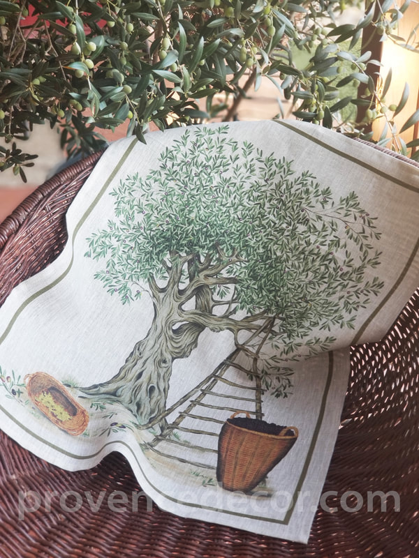 Provence Decor - Linens Collection French Designs Eco friendly Pure Linen Dishtowels
