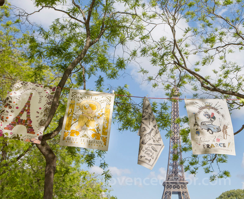 Provence Decor - Vive la France Collection French Designs Eco friendly Cotton Dishtowels