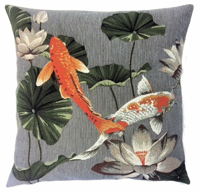 Koi Fish Decor Belgian Tapestry Throw Pillow Cases